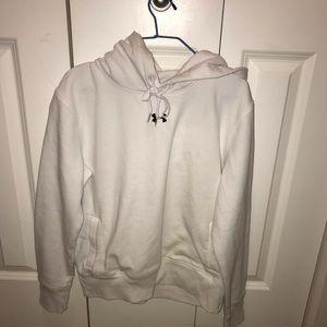 white underarmour sweater